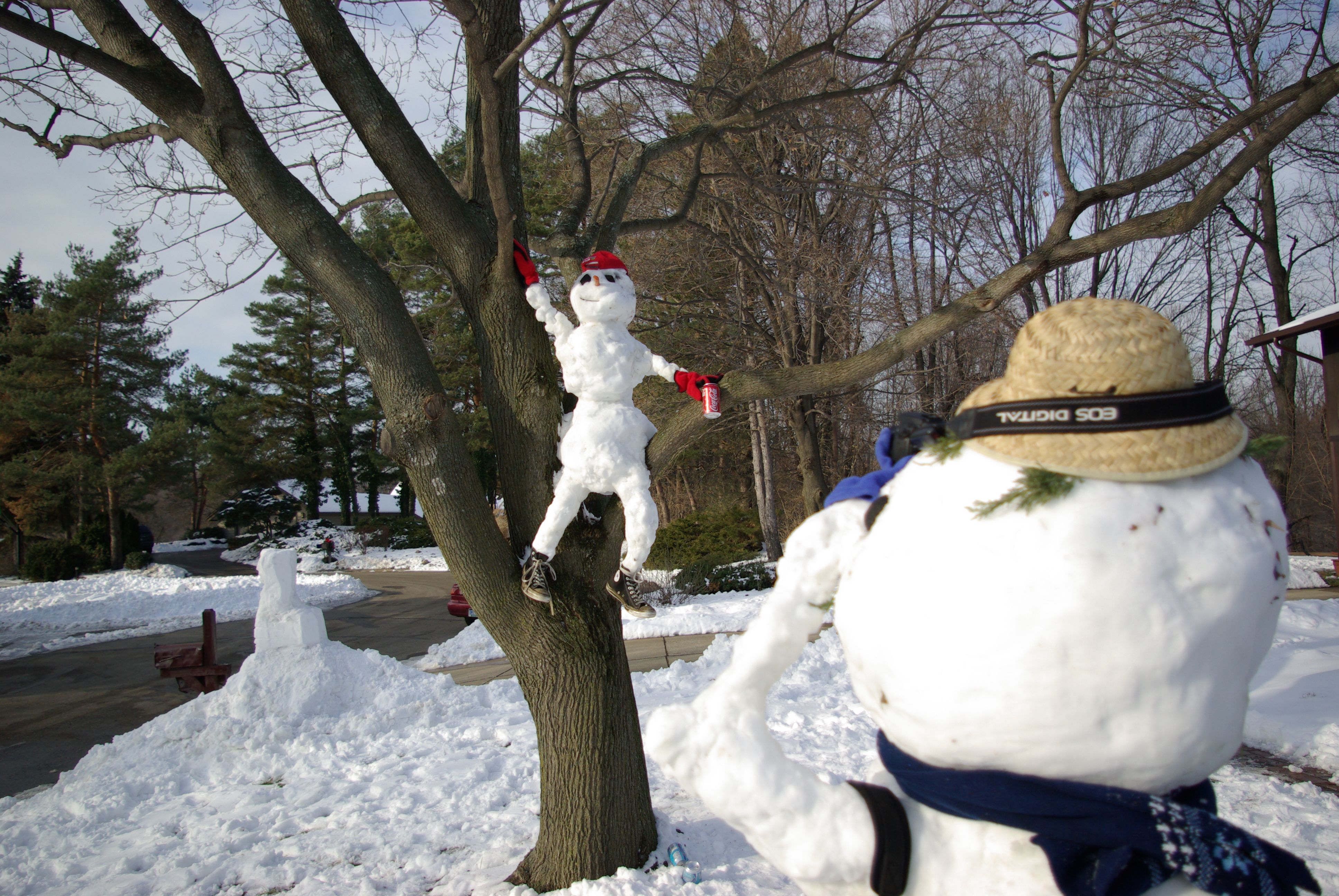 Необычные снеговики своими руками