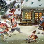 Сказочная зима художника Елены Ревуцкой