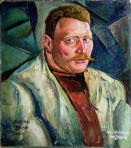 Портрет Заикина, написанный в 1920 году одним из братьев Бурлюков.