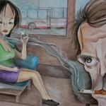 Фоторепортаж: рисунки детей о вреде курения