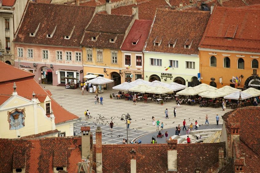 Piaţa Sfatului (vedere din Turnul Alb)