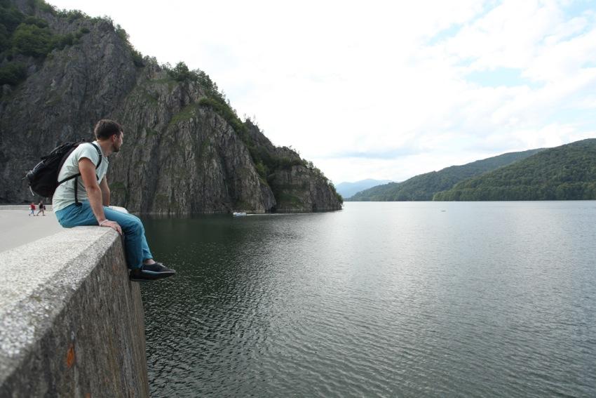 Barajul Vidraru, vedere spre lac