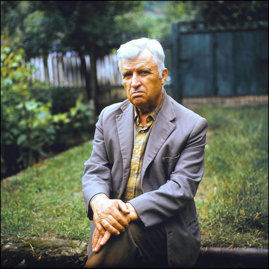 Молдавский писатель и академик Андрей Лупан (80-тые годы). Автор- Иван Кибзий.