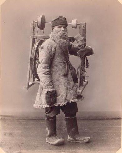 Точильщик зимой