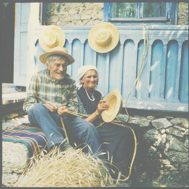 Grandfather Kiril and grandma Katinka (80th years). Village Podoima, Camenca sub-district.