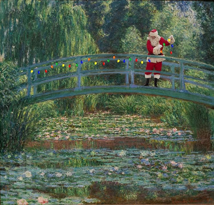 'japanese footbridge' by claude monet, 1899