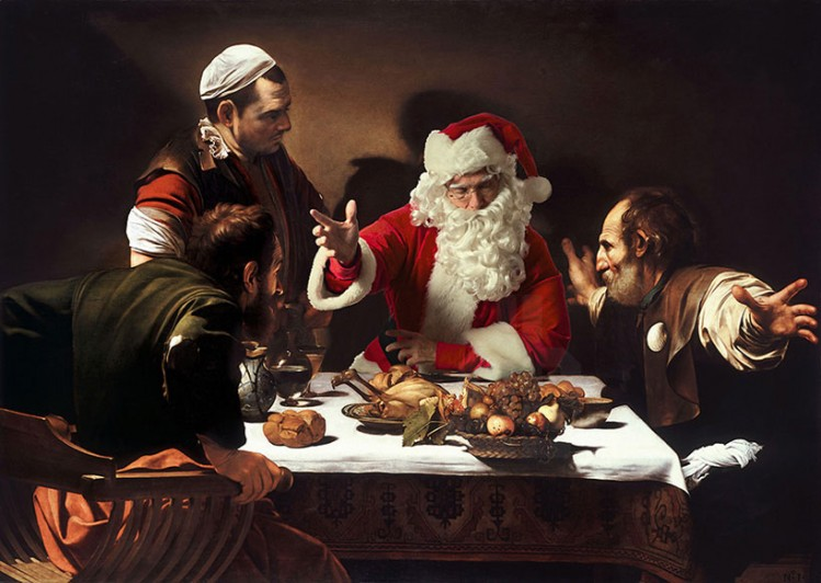 'the supper at emmaus' by caravaggio, 1601