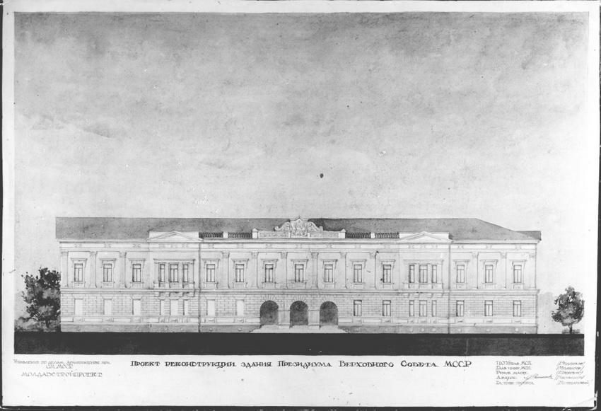 Проект реконструкции здания, выпoлненный архитектором С.В. Васильевым.