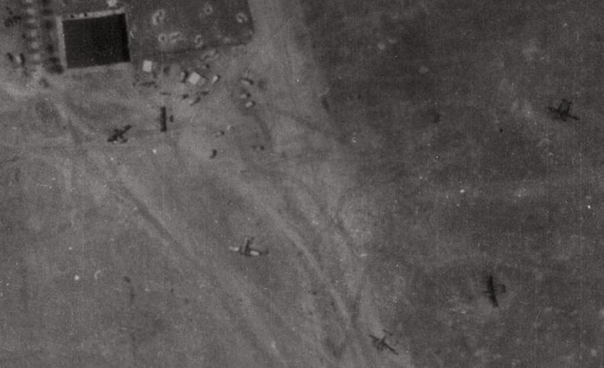 Фрагмент немецкой аэрофотосъёмки Кишинёва. 3 мая 1944 года.