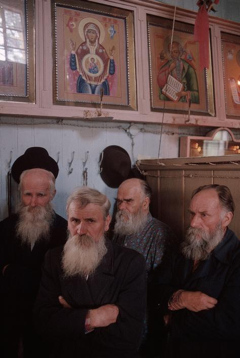 "MOLDAVIA. Village of Kounicha (""Old Believers""), group of Russian religious dissenters. 1988."