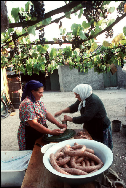 """MOLDAVIA. Kounicha village. In a """"Old Believers house"""" (Schism with the Russian Orthodox Church). 1988."""