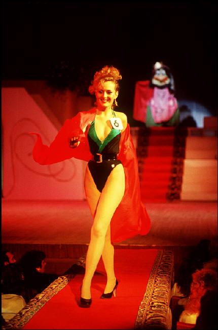 MOLDAVIA. Kishinev. A contestant in the Miss Moldavia pageant. 1988.