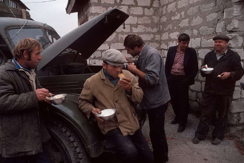 MOLDAVIA. Getlovo. Motherland collective farm. 1988.