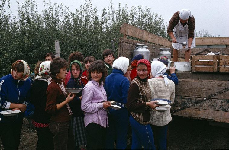 MOLDAVIA. Near Soroki. Collective farm. 1988.