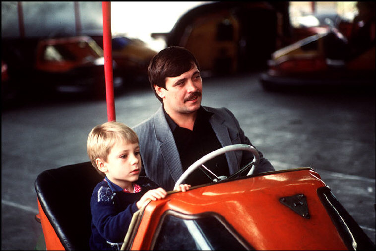 MOLDAVIA. The capital Kishinev. Enjoying the bumper cars in an amusement park. 1988.