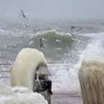В Одессе замёрзло побережье Черного моря