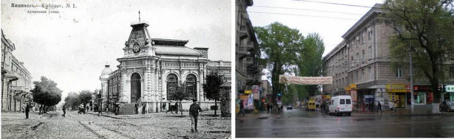 Аптека Паутынского в начале XX века и то же самое место в 2009 году