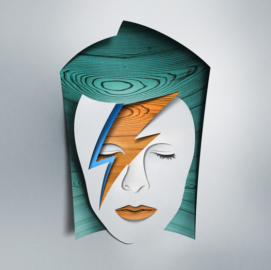 "Remake of  David Bowie – Aladdin Sane for exhibition ""Re-Cover"" at Paris."