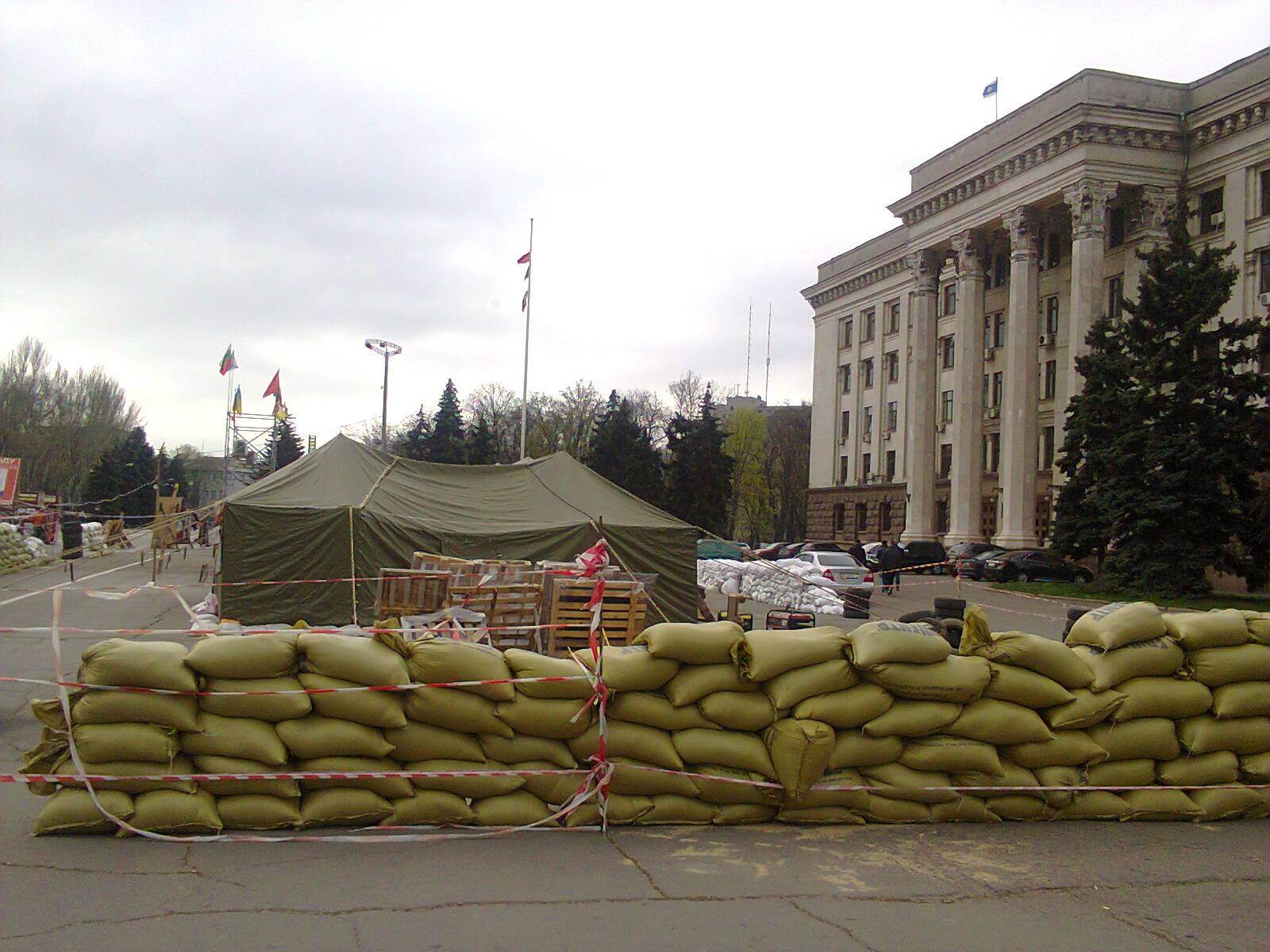лагерь анти-Майдана на Куликовом поле