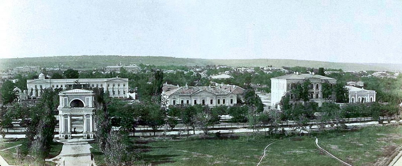Ул. Александровская. Митрополия, Духовная Семинария, Консистория. 1889 год.