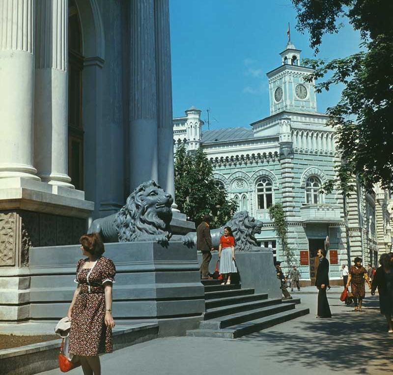 Органный зал и Примэрия. 1980 год. Фото: И. Кибзий.