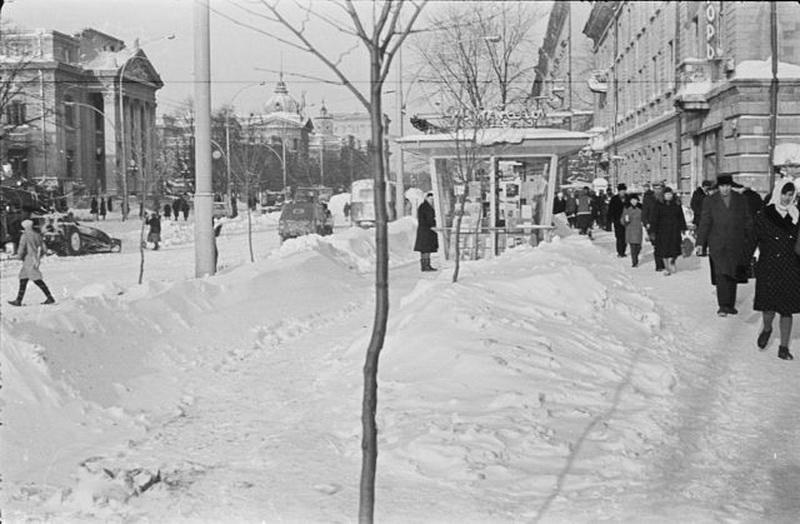 Снежная зима 1966 г.