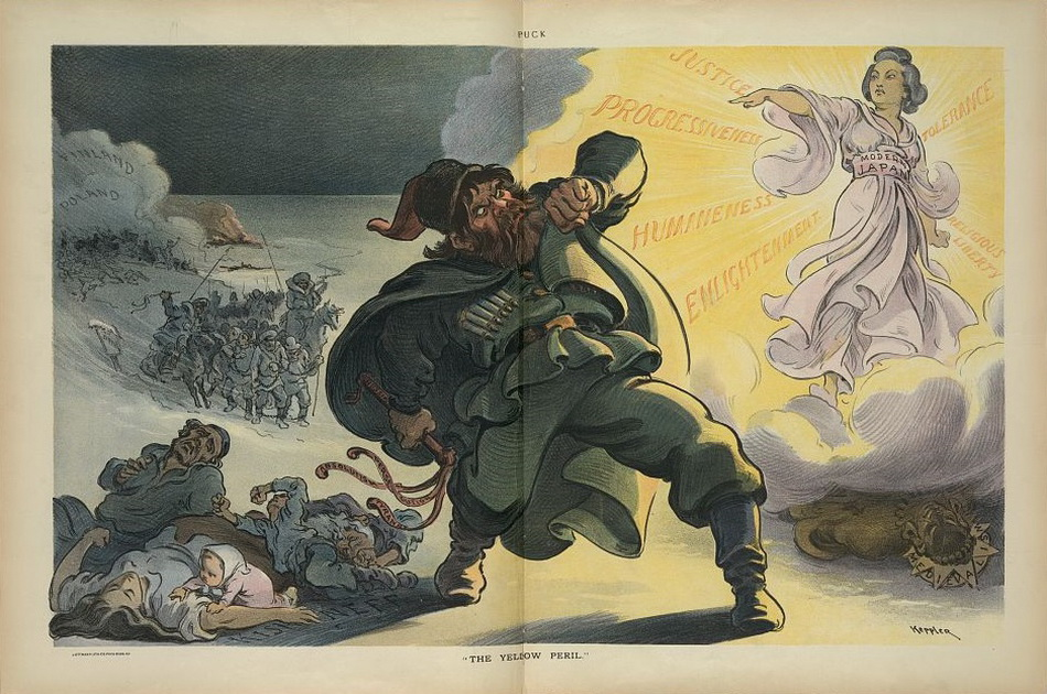 """The yellow peril"", Udo J. Keppler, 1904 March 23"