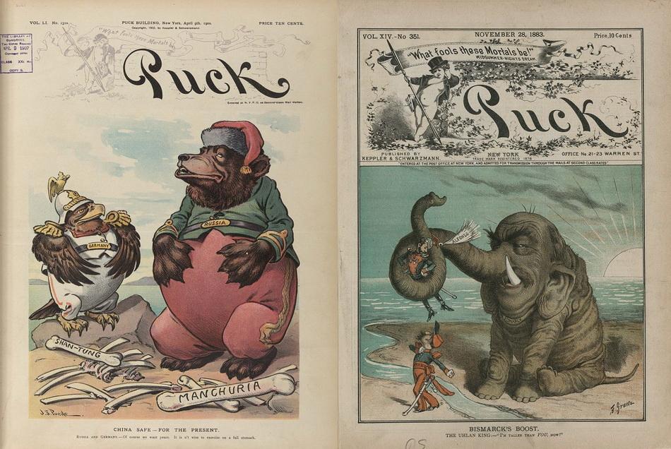 """China safe - for the present"", John S. Pughe, 1902 April 9; ""Bismarck's boost"" Friedrich Graetz, 1883 November 28"