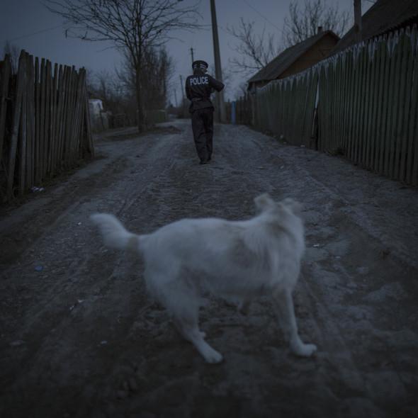 Хью младший идёт домой со своей собакой. Целые города и сёла исчезают из Молдовы. Фото Asa Sjöström