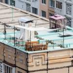 В центре Кишинева на крыше девятиэтажки появилась терраса