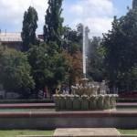 Заработал фонтан у железнодорожного вокзала