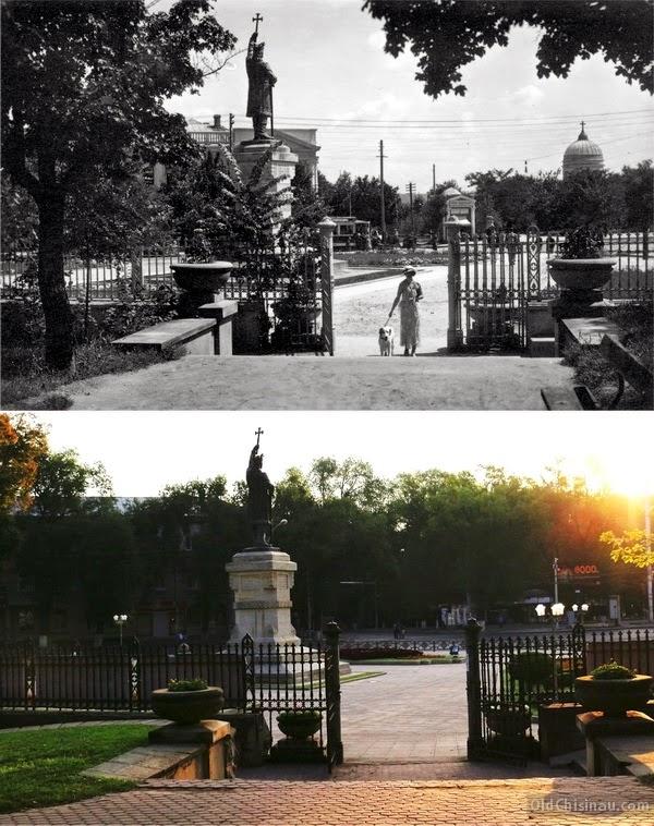 Памятник Штефану Великому. 1930-е гг и 2014 год.