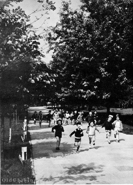 1970-е гг. Дети на Аллее Дружбы.