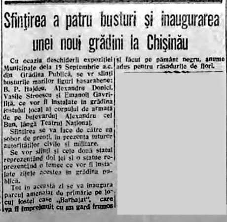 "Газета ""Basarabia"", 8 сентября 1943 года."