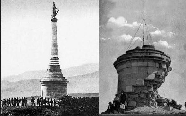 Statuia lui Arpad. До и после теракта.