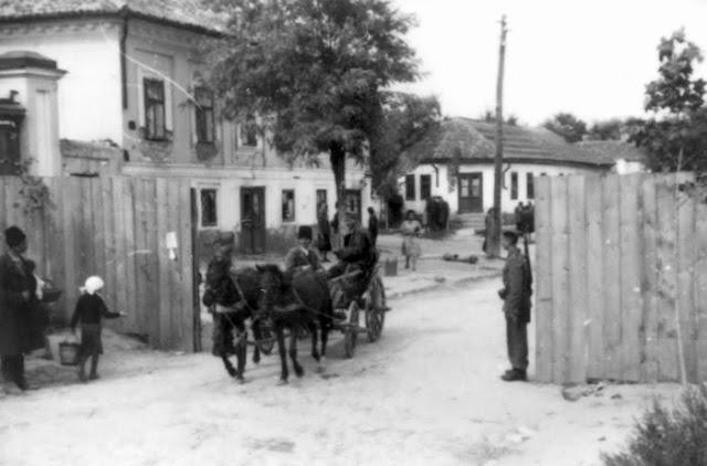 Один из двух пунктов пропуска в кишинёвское гетто.