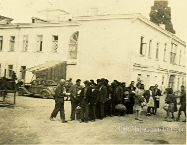 Кишинёв, 1941 год. Отправка евреев на принудительные работы.