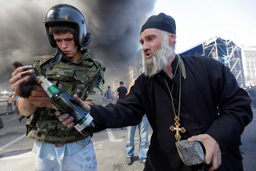 Протестующие майдановцы. Киев, 7 августа 2014 года. Фото: Константин Черничкин / Reuters