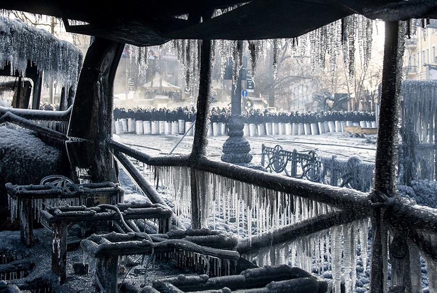 Бойцы украинского ОМОНа. 23 января, Киев (Украина). Фото: Владимир Шуваев / AFP