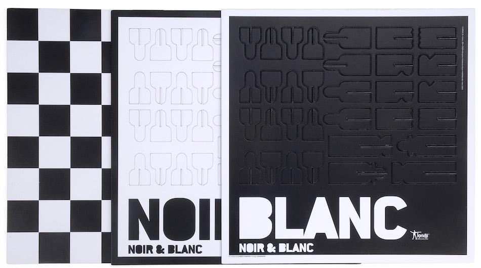 Noir et blanc parts
