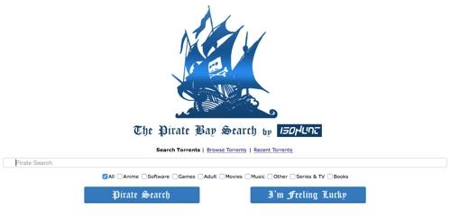 Один из первых клонов The Pirate Bay — OldPirateBay.org