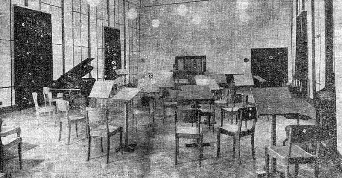 Интерьер радиостанции, 1940 год.