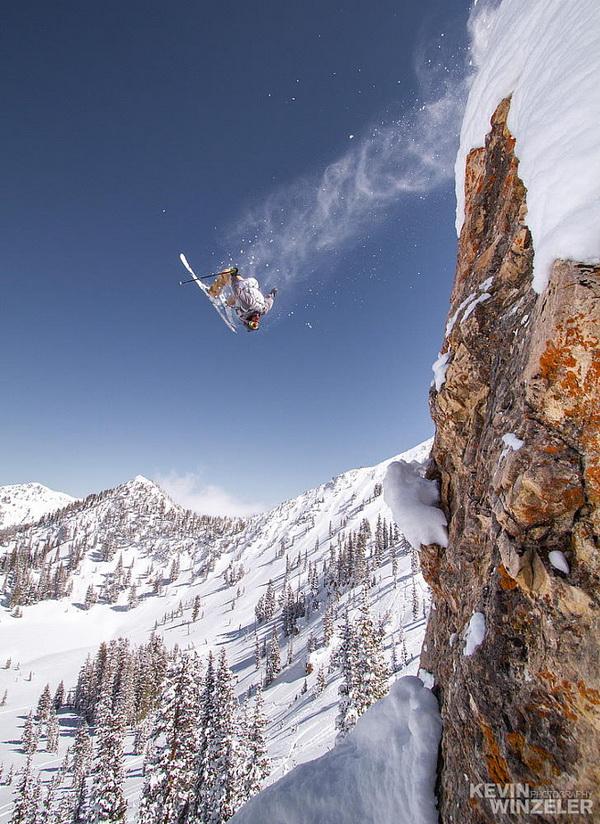 Катаясь на лыжах. KevinWinzeler.com