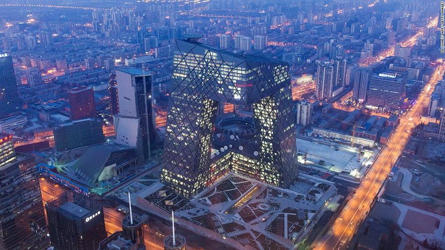 Здание CCTV в Пекине.