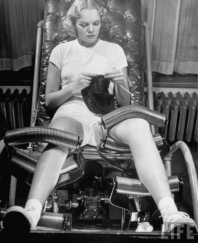 Тренажер для «скатывания жира», 1936 год.
