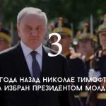Цифра дня: президентство Николая Тимофти