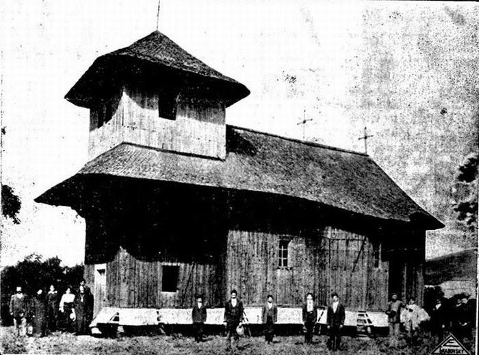 Церковь Св. Дмитрия на своём первоначальном месте в селе Корнова, 1930-е гг.