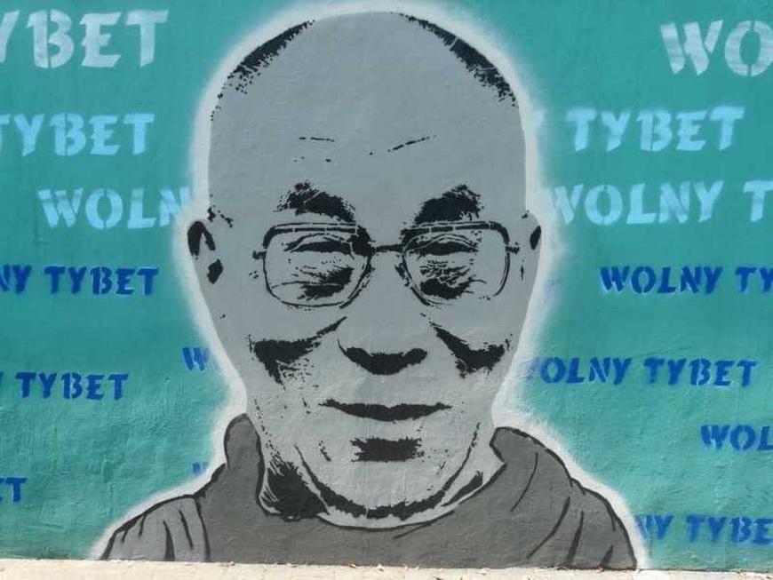 Мурал на Перекрестке свободного Тибета, фото Тибетская Галерея
