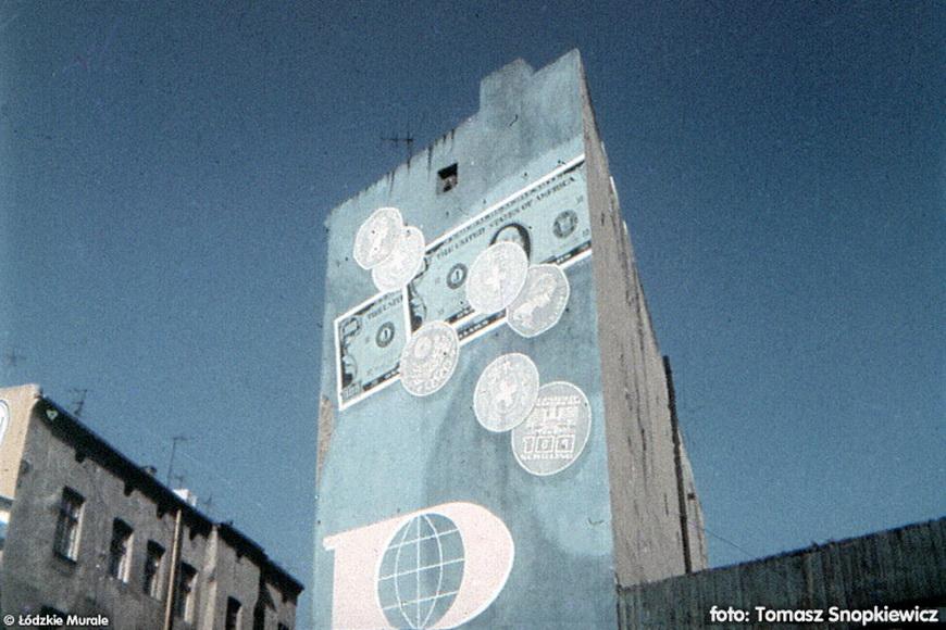 Мураль в Лодзи – реклама PKO, фото Томаш Снопкевич / источник: www.murale.mnc.pl