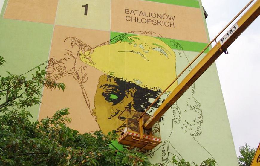 Так создавался антирасистский мурал в Белостоке, 30 июля 2013 г., фото Normalny Białystok